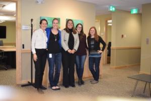 Danita, Caitlin, Aimee and their team members